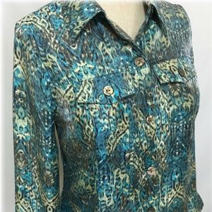 Drapers and Damons Top Button Front Blouse Small